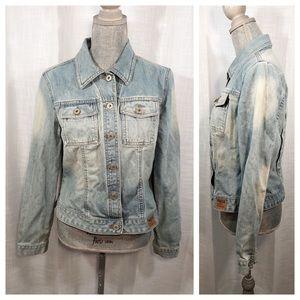 Guess Jean Jacket Workwear Long-sleeve Size Large